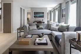 office area in living room. A Casual Living Room In Grays With Small Home Office Area To The Rear Of