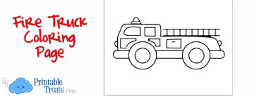 Small Picture Printable Fire Truck Coloring Page Printable Treatscom