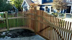 Custom Driveway Gate with Curved Sections Kuperus Custom Fence