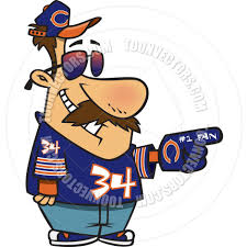 football fan clipart. cartoon chicago bears football fan clipart e
