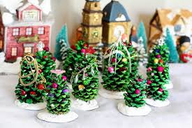 10 Favorite Christmas Crafts For Kids  Things To Make And Do Pine Cone Christmas Tree Craft Project