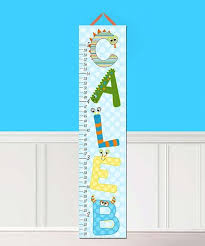 Toad And Lily Growth Chart Toad And Lily Monster Letter Personalized Growth Chart Zulily