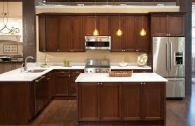 l shape kitchen design faucet trends with wooden cabinet and formica countertops for small kitchen