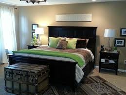 Green and tan master bedroom