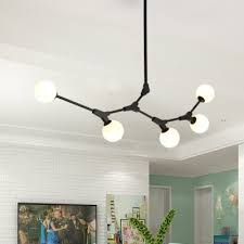 nordic designers style branch led chandeliers 3 light 14 light 5w gold frosted glass ball