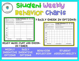 Student Weekly Behavior Chart