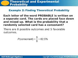 Theoretical And Experimental Probability Worksheet Worksheets