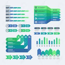Infographic Elements Modern Graphs Investment Charts Info Diagrams
