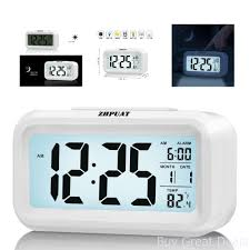 morning clock low light sensor technology soft to loud alarm with backlight
