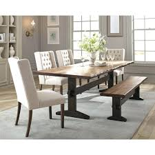 dining room table set. Live Edge Dining Room Table Living Rustic Set With Bench Coaster Fine C