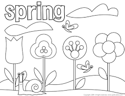 Spring Coloring Pages Cute Mouse And Page For Kids Seasons