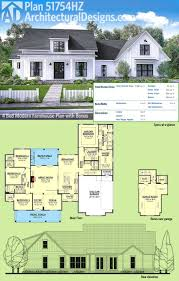 Plan 51754HZ: Modern Farmhouse Plan with Bonus Room