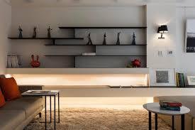 living room design wooden bookshelf