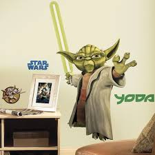 amazoncom star wars  yoda peel  stick giant wall decals home