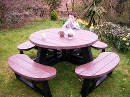 esf round picnic tables