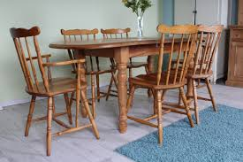 Cottage Style Kitchen Table Solid Pine Extend Cottage Style Table 6 Chairs Incl 1 Carver