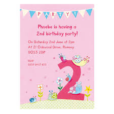 Birthday Party Invitation Personalised Second Birthday Party Invitations By Made By Ellis