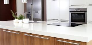 cleaning a kitchen countertop