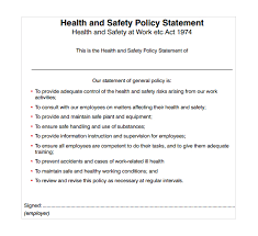 Health And Safety Policy Statement Template Sample Safety Statement ...