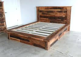 Reclaimed Wood Platform Bed What We Make Wooden Solid Queen Size