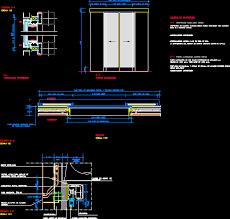 automatic door details in autocad cad