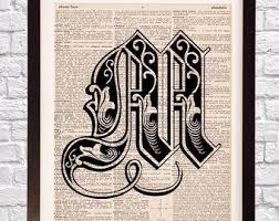 fancy letter m fancy letter m etsy