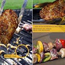 Amazon Copper Grill Mat and Bake Mat Set of 5 Non Stick BBQ