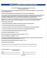 Hipaa Consent Forms Inspiration 44 HIPAA Consent Form Samples Sample Templates