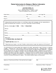 Authorization To Release Medical Records Form Template Hashtag Bg