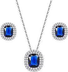 Lavencious Square Design <b>Jewelry</b> Set <b>Necklace</b> & <b>Earrings Trendy</b> ...