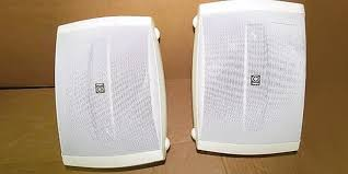 yamaha outdoor speakers. yamaha ns-aw150wh 2-way outdoor speakers in the use