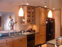 lighting for small kitchen. Small Kitchen Recessed Lighting Ideas With Mini Pendant Lamps For I