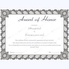 Samples Of Awards Certificates Award Of Honor Formal Design Teacher Awards Certificate