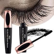 Buy Zdu <b>4D Silk Fiber Eyelash</b> Mascara Extension Makeup Black ...