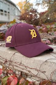 detroit tigers and flying c maroon adjule hat