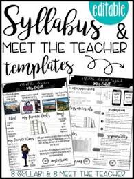 middle school art syllabus template. Syllabus Editable 8 Different Editable Syllabus Infographic