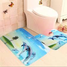 2018 whole dolphin coconut shell sea beach soft bath mat set toilet rug bathroom contour mat the best quality from hobarte 21 21 dhgate com