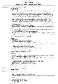 Sonar Technician Resume Samples Velvet Jobs