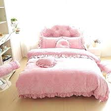 pink velvet comforter light