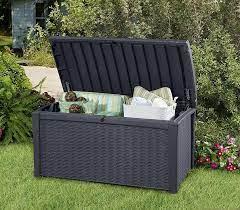 keter borneo storage box grey 400l