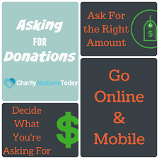 asking for donations