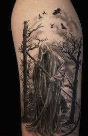 Smrt Tetování S Kosou 100 Fotografií Hodnota Náčrtky