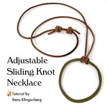Making A Slide Adjustable Sliding Knot Necklace Tutorial Jewelry Making Journal