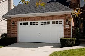 white wood garage door. Garage Doors With Windows Styles And Carriage Style | Carroll White Wood Door D