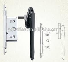 concealed door handle for aluminium bi fold folding doors with driving lock lock