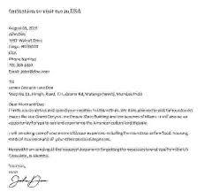 Invitation Letter For Us Visa Sample Letters Of Invitation