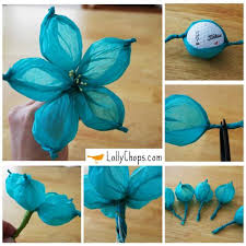 How To Make Flower From Tissue Paper Tissue Paper Flowers Using A Golf Ball