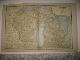 Antique 1943 Milwaukee Wisconsin Grand Rapids Michigan