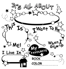 Small Picture All About Me Coloring Pages Apigramcom