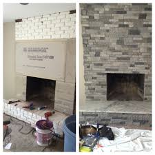 Renovate Brick Fireplace I Refaced This Old Brick Fireplace On A House I Was Remodeling By